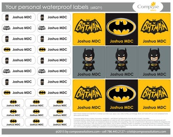 Batman - Your personal waterproof labels (68 Qty) Free Shipping