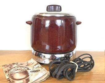 Vintage West Bend Electric Bean Pot