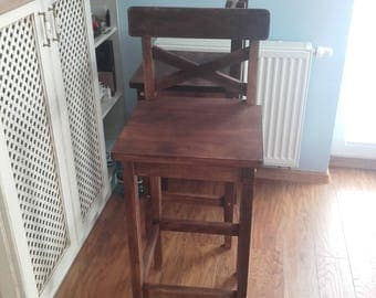 Bar stool with backseat