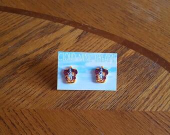 Harry Potter Inspired Gryffindor House Crest Earrings