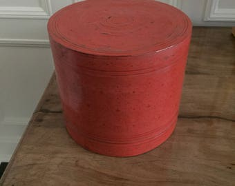 Burmese Red Lacquer Lunchbox