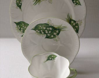 Shelley-England   Lily Of the Valley   3 Piece Trio