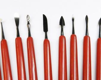 Wax Carving Tools 10 pcs Set Jewelry Wax Metal Clay Plaster Sculpting Designing (10E)