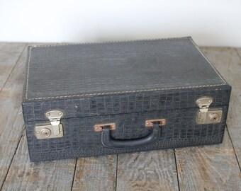 Black suitcase | Etsy