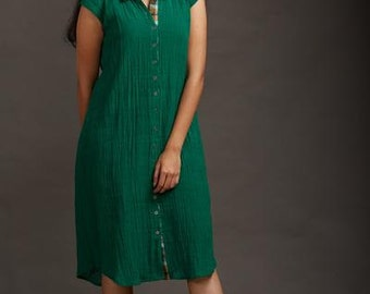 Forest Green Shirt Dress