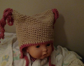 Curly-Q toddler winter hat