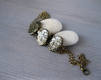 Artisan jewelry Goth jewelry Gold and black bracelet Steampunk bracelet Antique bracelet Gothic gifts Gothic bracelet Medieval jewelry