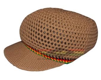 RASTA/reggae hand crocheted cap RLW304