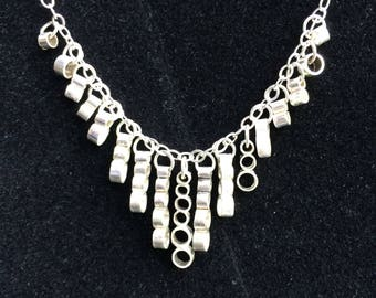 """Sterling Silver """"Many Circles"""" Necklace"""