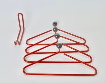Rare vintage 70s atomic wall coat rack system, pop art