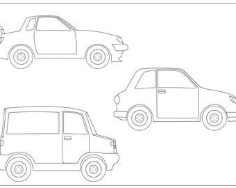 Colouring page Cars
