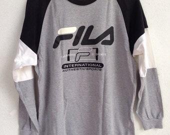 Rare Fila long sleeve shirt M