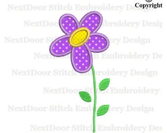 Floral embroidery applique design, flowers machine embroidery design,  fls-054