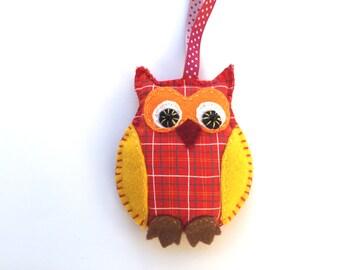 Owl Ornament, Owl Felt, Colourful Felt Owl Ornament, Christmas Ornament, Home decor