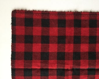 Red and black buffalo plaid receiving blanket