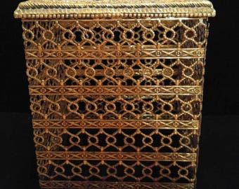Golden tissue box