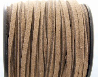 5m suede 3mm Brown #3894
