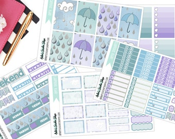 April Showers Weekly Kit for Happy Planner Planner Stickers