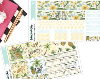 Summer Time July Monthly Kit for Happy Planner