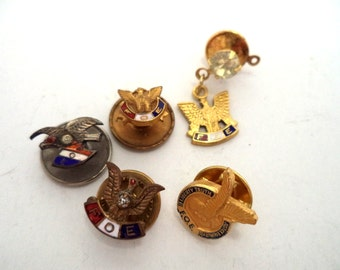 SALE Collection of Vintage FOE Pins Fraternal Order of Eagles
