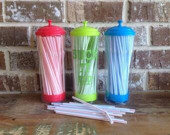 Plastic Straw Dispensers-Storage/Pencil Holder