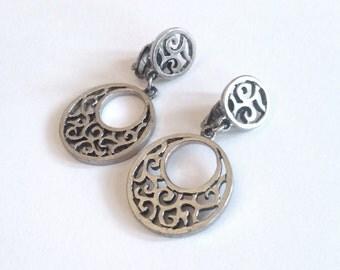 metal knot earrings etsy