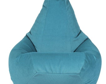 Velor-corduroy bean bag chair  for kids, teens, adults. Wide choice of colors