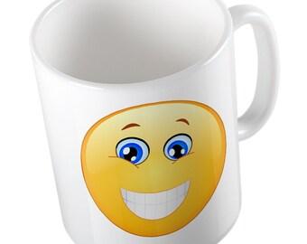Emoji Wide Happy Smile mug