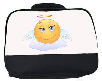 Emoji Angel canvas lunch bag (perfect for school or nursery)