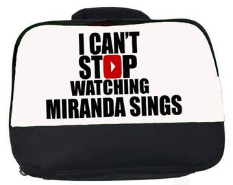 I can't stop watching Miranda Sings canvas lunch bag (perfect for school or nursery)