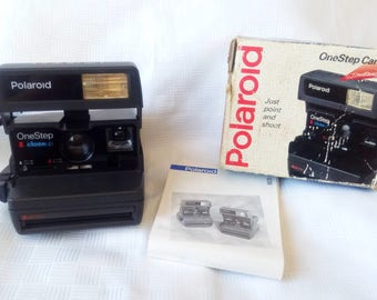 Polaroid Close Up 636, Polaroid with box, Polaroid Camera, Vintage Camera, Retro Camera,