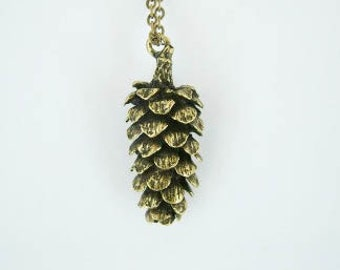 Pinecone Pendant - Pinecone necklace - Fir cone necklace - Pine cone pendant - Woodland - Christmas necklace, Antique Bronze Pine Cone