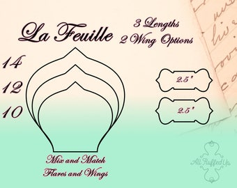 """La Feuille/3 Length Bundle/Cloth Pad Sewing Pattern/2.5"""" Snapped Width"""