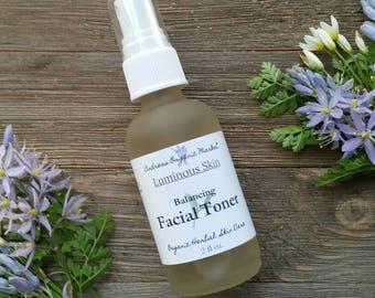 Organic Facial Toner, Organic Facial Care, Herbal Face Toner, Facial Mist, Vegan Facial Toner, Organic Skin Care, Eco-friendly Skin Care