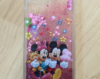 Disney Mickey & Minnie Mouse Liquid Glitter Quicksand Case For iPhone 6/6s , iPhone 6/6s Plus - Ships from NY