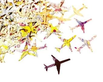 Aviation Map Confetti / Airplane Confetti / Aviation Confetti Made From Pilot Charts / Aviation Charts / Flight Maps - 100 pieces