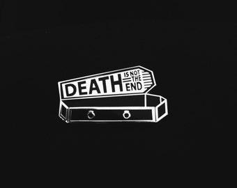 Handmade Nick Cave/Bob Dylan Not the End Coffin Hard Enamel Lapel Pin