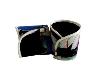 Akio T/XS Japanese fabric Cuff Bracelet