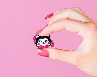 Cute Kitty Hard Enamel pin,lapel pin // Retro, Kitsch, Vintage // EP199