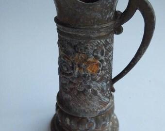 Old brass pitcher year 1900