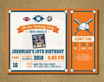 PRINTABLE |  Sports Birthday Invite