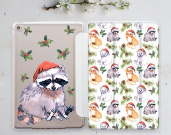 iPad 3 Case Stand iPad 2 Cover Cute Gift iPad 10.5 Case iPad Mini 2 Smart Cover iPad Pro 12.9 Cover iPad Mini Case Raccoon iPad Cover is002