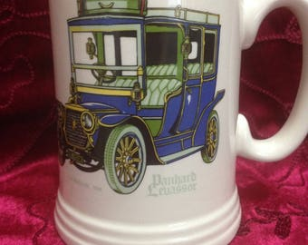 "Lord Nelson Pottery Tankard with Vintage Car, ""Panhard Levassor La Marquise 1908"""