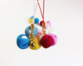 Kukurizaru Phone Strap - Phone Charm - Omamori -  Good Luck Charm - Hanging Monkeys