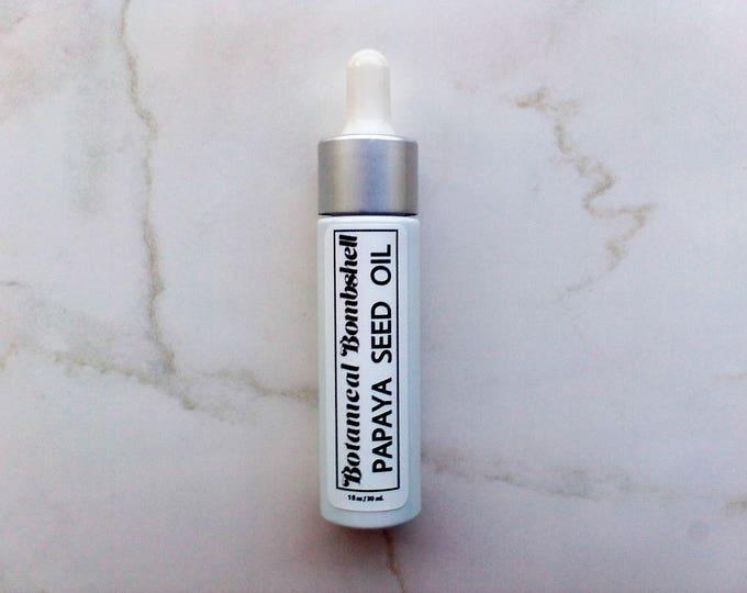 Papaya Seed Oil / Carica Papaya (Cold Pressed, Virgin, Unrefined) Facial Oil 1 fl oz / 30 mL
