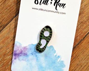 Runners for Mental Health Awareness Enamel Pin - Enamel Pin - Semicolon - Running Pin - Mental Health pin