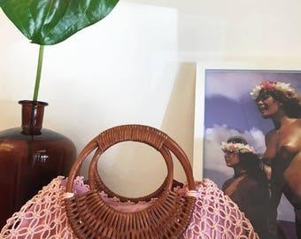70s pink handbag