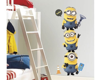 Minions birthday/bedroom stick and peel wall decal decoration