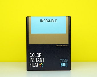 Impossible Project Polaroid 600 Colour Film - Gold Frame Edition