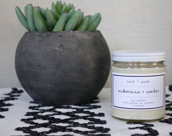 Soy Candle, Soy Container Candle, Scented Candle, 9 oz candle, 16 oz Candle, Gift, Oakmoss and Amber Scent, Masculine Scent, Candle